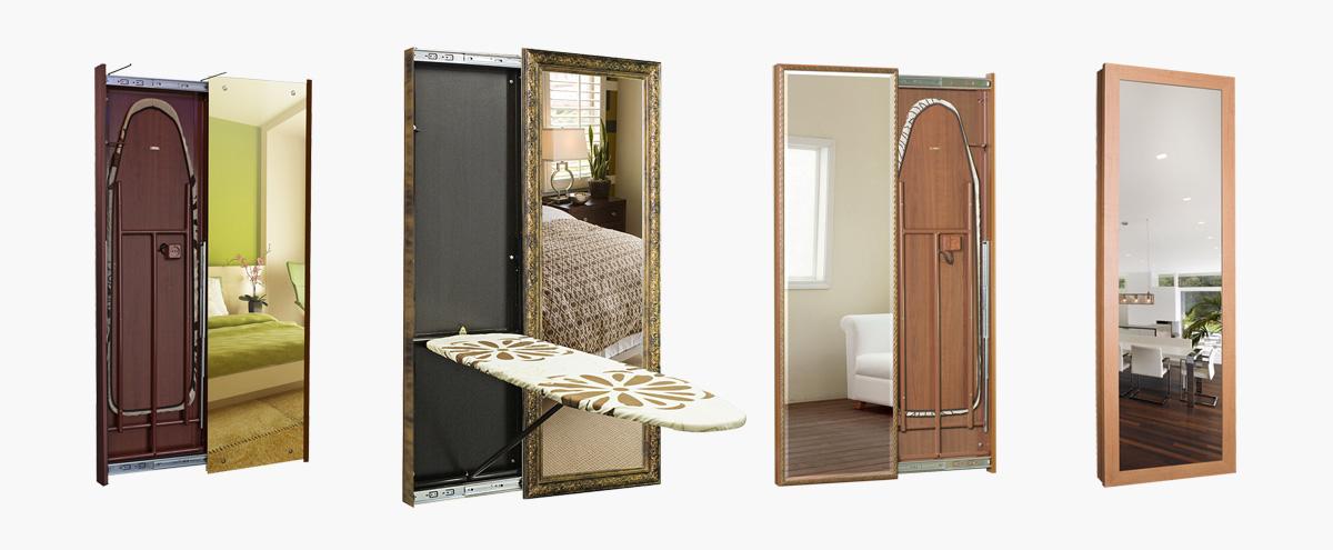 Гладильная доска, встроенная в шкаф: виды, материалы, изготовление