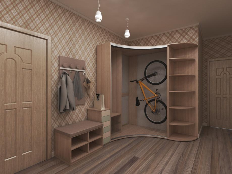 Список наполнения углового шкафа-купе для спальни и прихожей