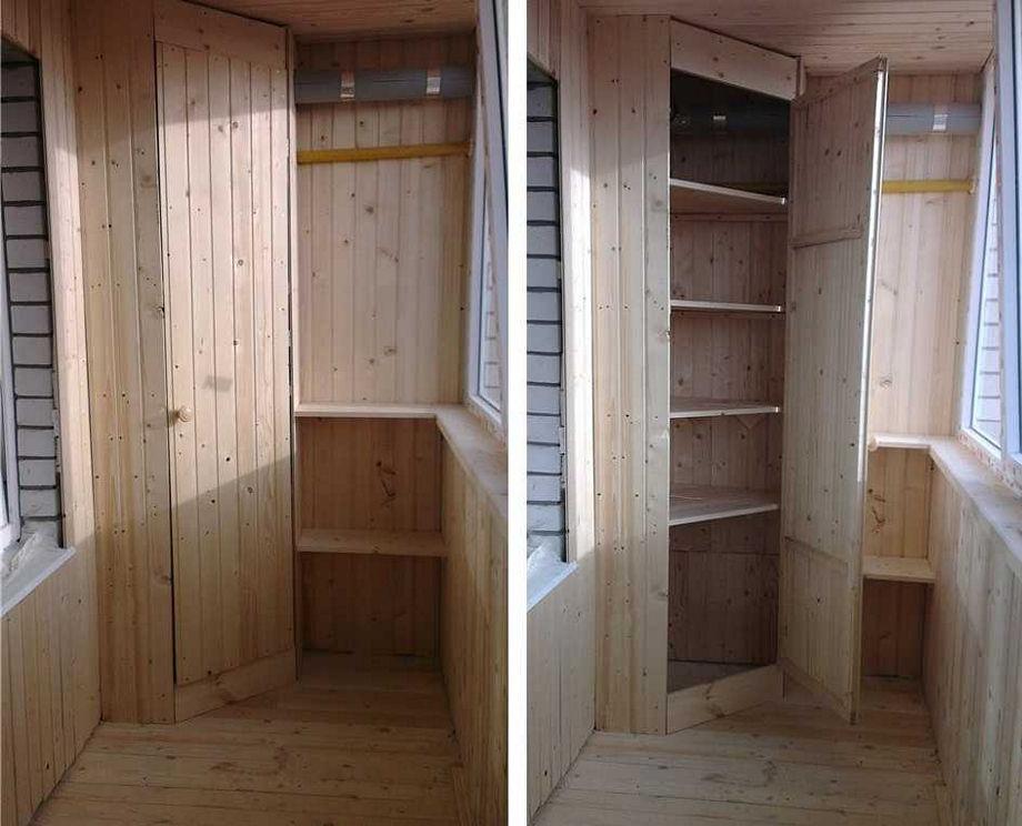 Как выбрать угловой шкаф на балкон или лоджию: разновидности и наполнение