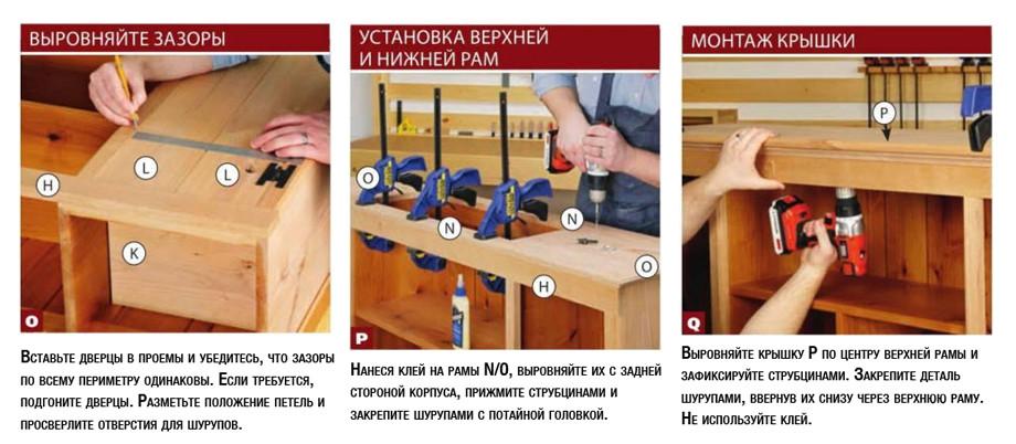Изготовление прямого и углового буфета из дерева своими руками: пошаговая инструкция