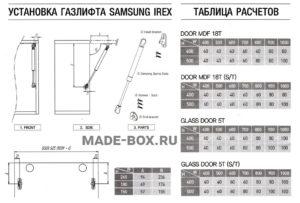 Инструкция к газлифту Самсунг
