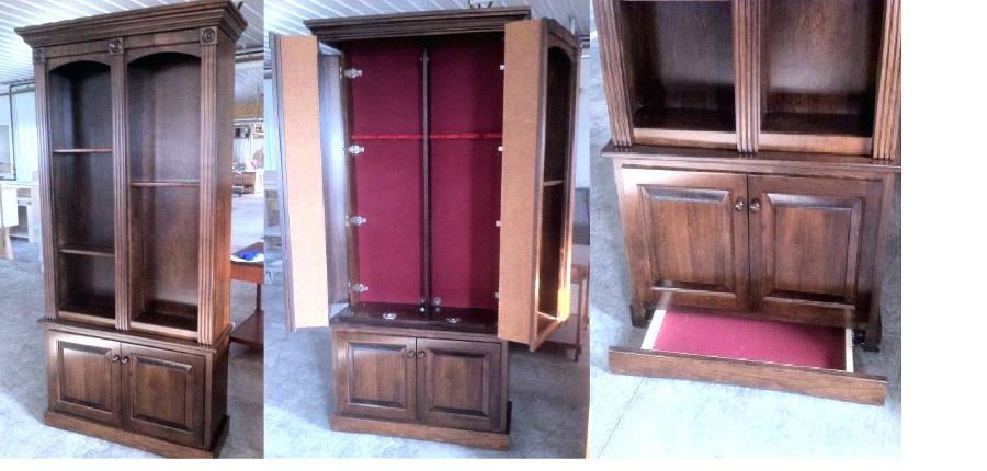 Старинный шкаф для посуды с секретом