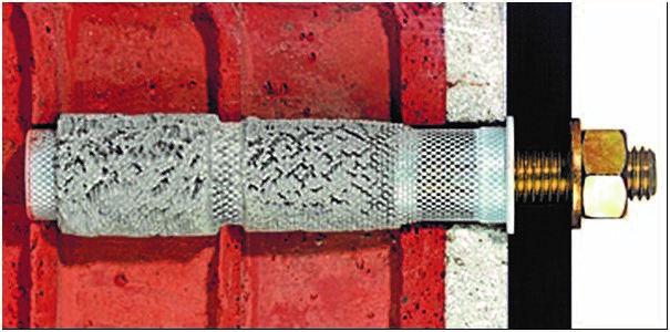 Анкерный болт в кирпичной стене