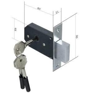 Замок для мебели с тремя ключами