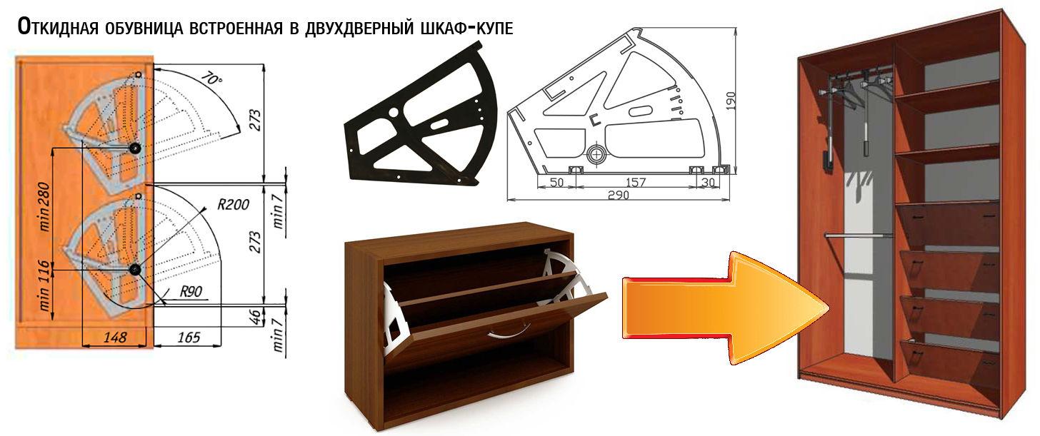 Виды полок под обувь для шкафа: как выбрать, установить и сделать самому?