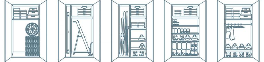 Наполнение шкафа для лоджии