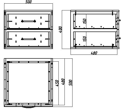 Схема блочно-модульного ящика