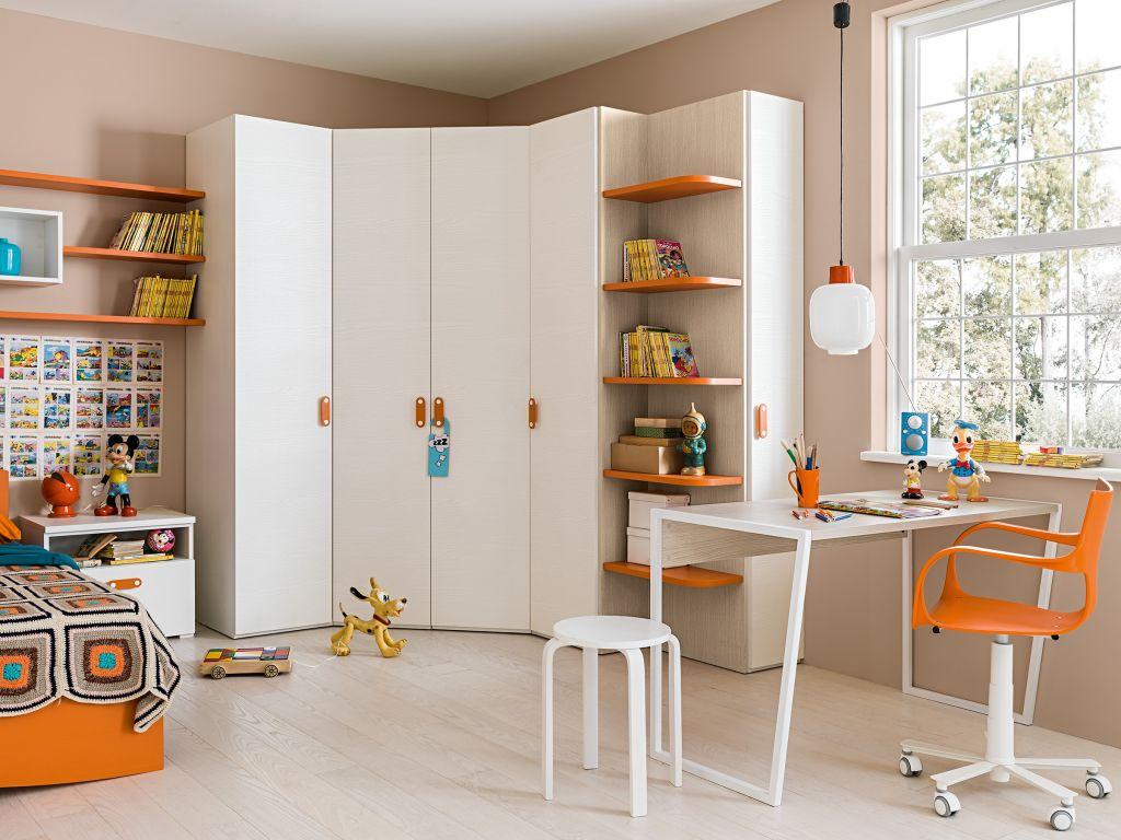 Как выбрать угловой шкаф в детскую комнату для мальчика и девочки?