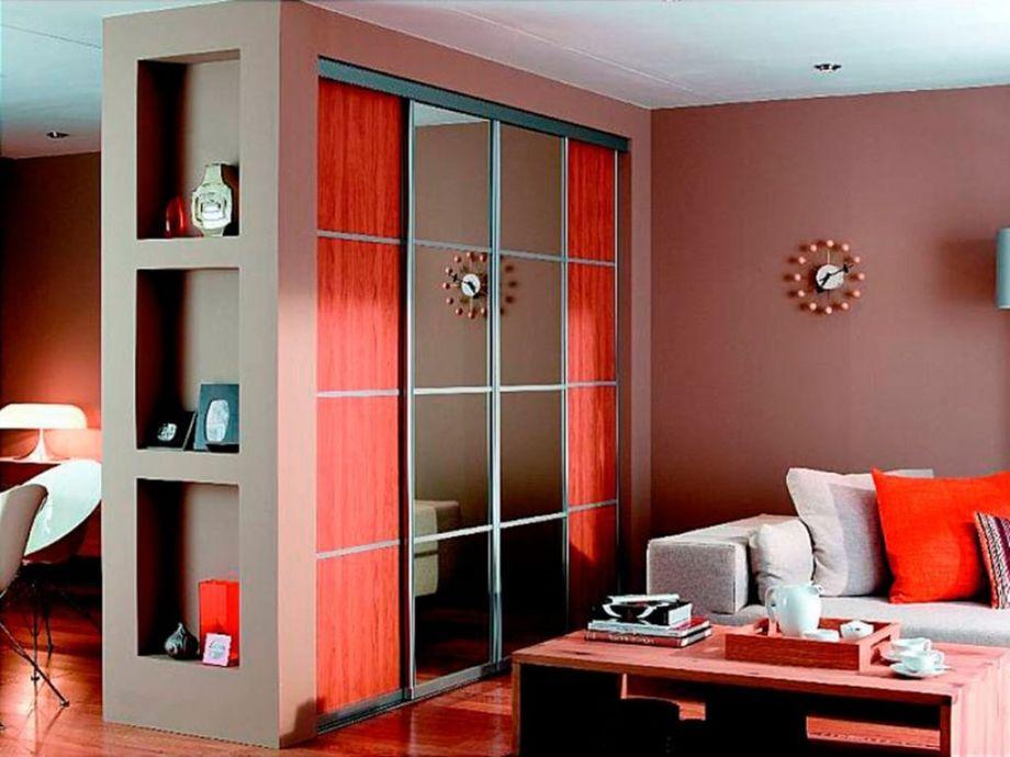 Перегородка в виде шкафа для зонирования комнаты: 97 фотографий