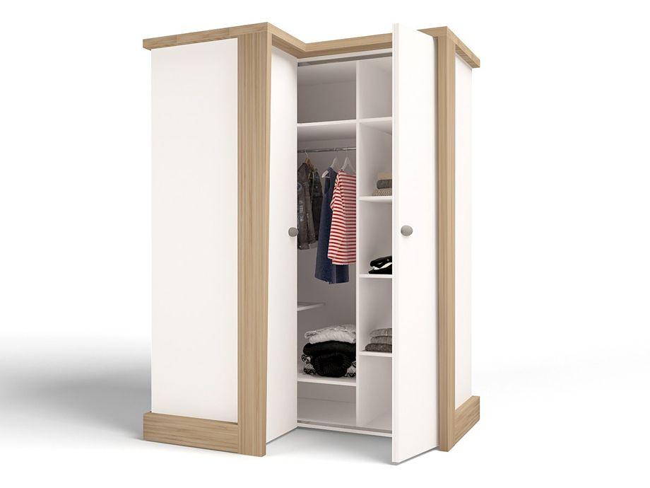 Угловой шкаф в маленькую спальню и прихожую: внутреннее наполнение с размерами, 50 фото