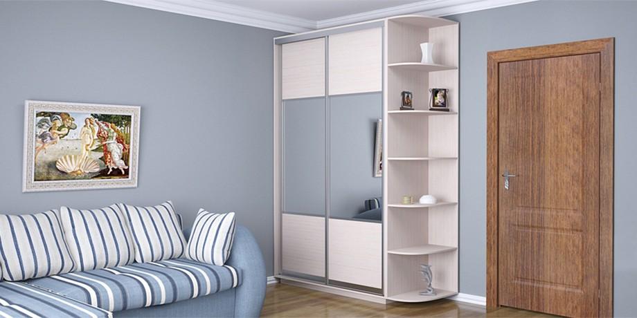 Разновидности шкафов-купе цвета венге - беленый дуб в интерьере