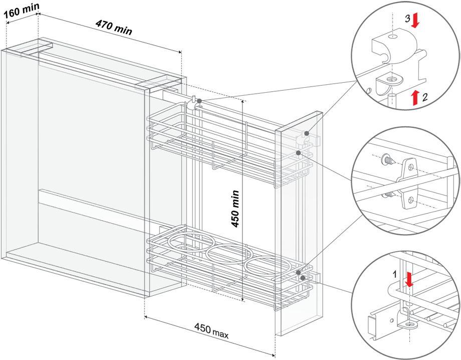 Размеры карго шкафа