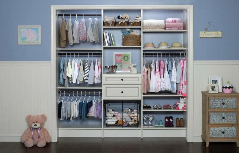 Встроенный гардероб для маленькой девочки