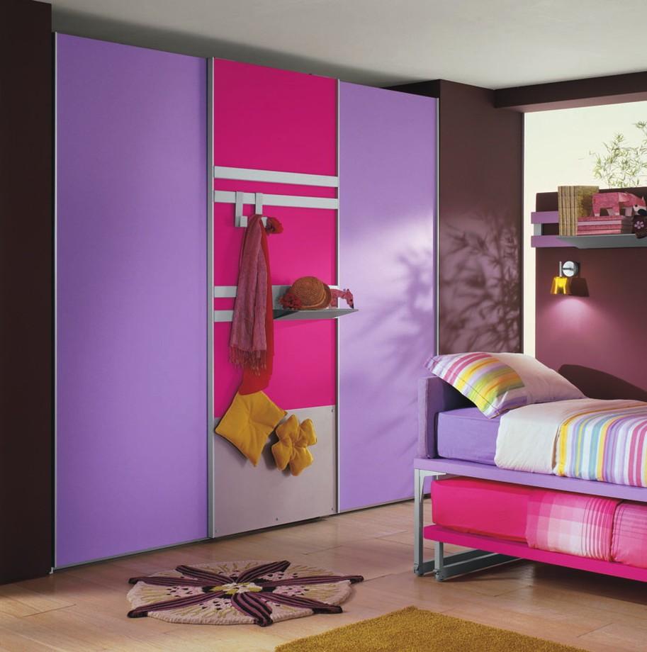 Сиреневый и розовый цвет в интерьере детской комнаты