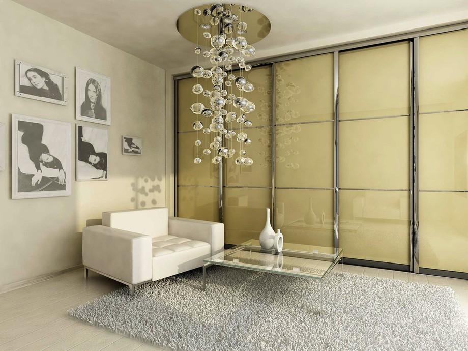 Встроенный гардероб для гостиной во всю стену