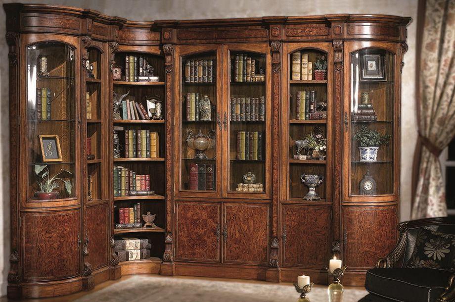 Деревянный книжный шкаф со стеклянными фасадами - выбираем породу и производителя