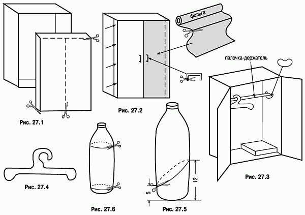 Делаем шкаф для кукол из бумаги, картона, коробки и фанеры: мастер-класс
