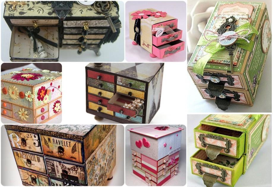 Шкафчики из спичечных коробков