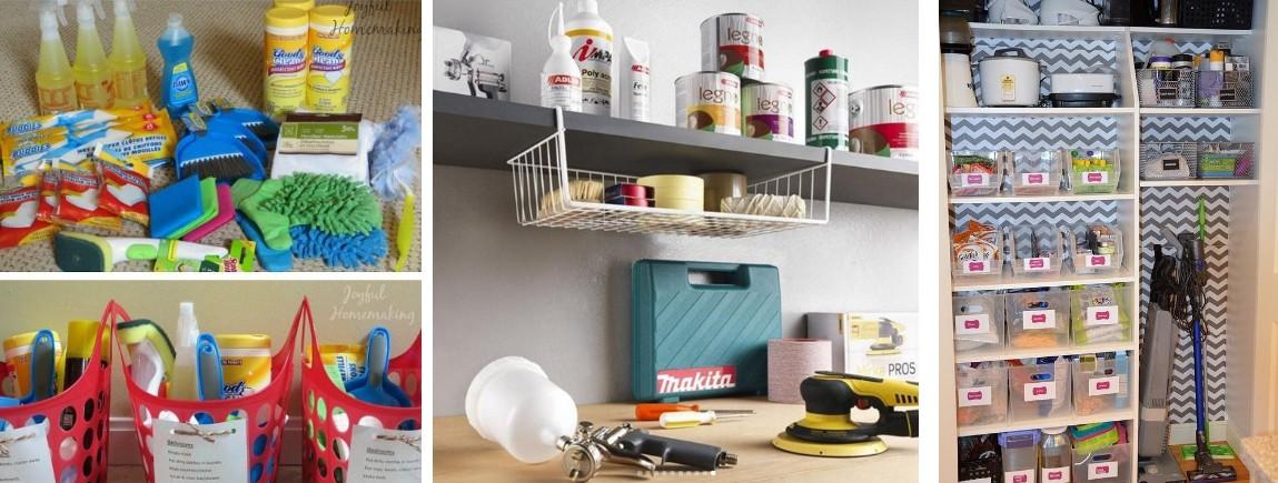 Шкаф для хозяйственного инвентаря: хранение уборочных принадлежностей дома