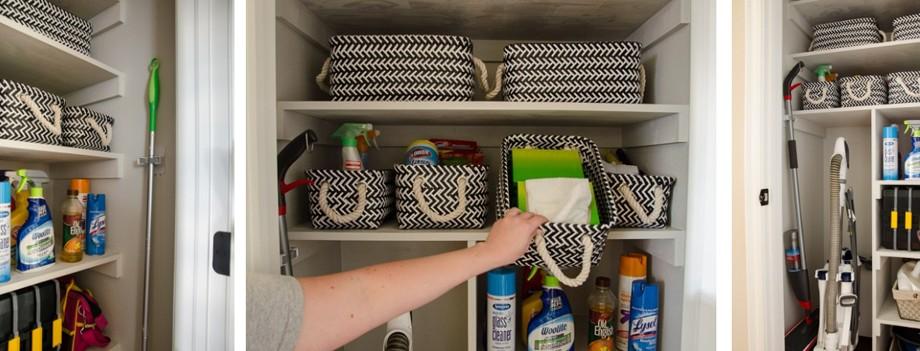 Полки в шкафу под химию