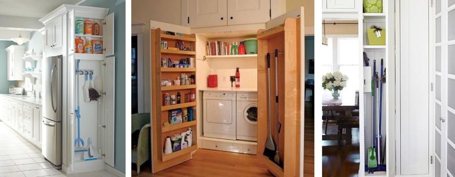 Встроенные шкафчики для моющих средств