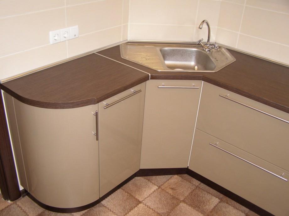 Угловой шкаф для кухонной мойки