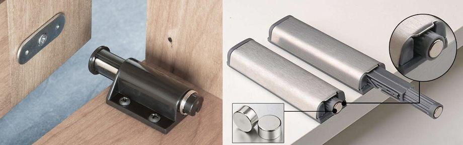 Механизмы открывания дверей шкафа без ручек: какой выбрать?