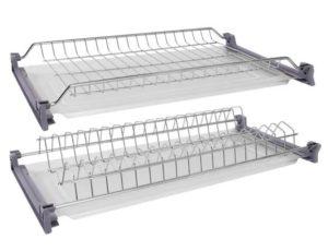 Сушилки для посуды в кухонный шкаф шириной 40, 45, 50, 60, 70, 80 см из нержавейки и других материалов: сборка, установка